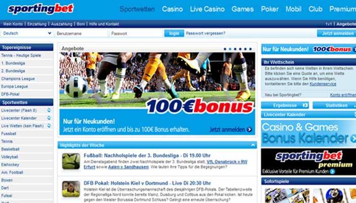 Sportingnet Sportwetten Bild
